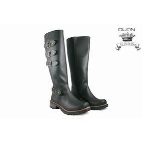 Botas Caña Alta / Montar Dijon Color Negro