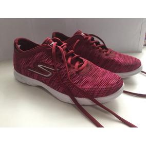 Zapatillas Mujer Skechers Original Nuevas T. 37,5 Bordo