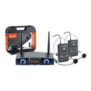 Microfone Duplo Sem Fio Karsect Krd200 Dh Auricular Headset