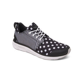 Zapatillas Roxy Set Session Negro/lunares Blanco