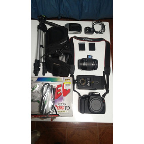 Canon 1200d Lente Bolso Tripode Baterias Flash Tarjeta
