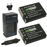Batería Wasabi Power (paquete De 2) Y Cargador Para Fujifil