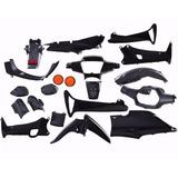 Kit Plasticos Honda Wave 110 Negro Suzuka Motos