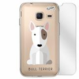 Capa + Película Vidro Samsung J1 Mini - Bull Terrier