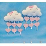 Prendedor De Cortina Chuva De Amor - Nuvens - 2 Peças