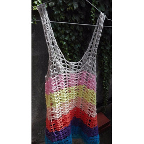 Vestido De Playa Tejido Al Crochet Talle 1
