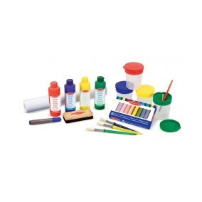 Melissa & Doug Easel Accessory Set - Paint, Cups, Brushes, C