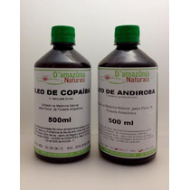 Óleo Copaíba 500ml+óleo Andiroba 500ml + Óleo Sucupira 500ml