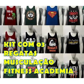 Camiseta Regata Masculina Academia - Camisetas Manga Curta no ... 8f2ac614add