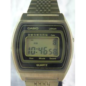Relógio Casio B811 G Módulo 58 Display Dourado Relógiodovovô