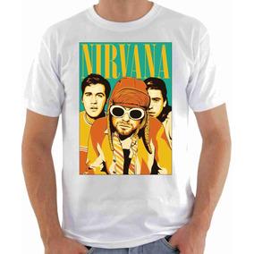 Camisa Camiseta Nirvana Kurt Cobain Banda De Rock
