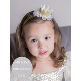 Vincha Corona Cumpleaños Princesa Bebe Nena Tiara Smash Cake