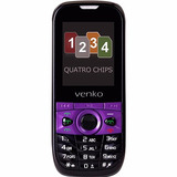 Celular Venko Ideal Ii Quadri Chip 4 Chips Redes Sociais 2gb