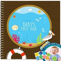 Libro De Recuerdos Primer Año Del Bebé Con 12 Milestone En