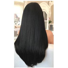 Aplique Mega Hair Cabelo Humano Preto Liso Alongamento