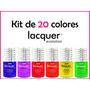 Kit Lacquer Evolution 20 Colores 8 Ml ( Gel Gelish Esmalte )