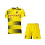 Camisa E Shorts Conjunto Borussia Infantil Oficial Puma 2017