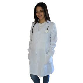 Modelos Jalecos Branco Feminino Tam M. Microfibra M. Longa