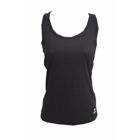 Musculosa Topper Tank Top Básico Mujer Negra