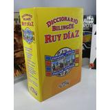 Diccionario Bilingüe Ruy Díaz. 65.000 Entradas Impecable.