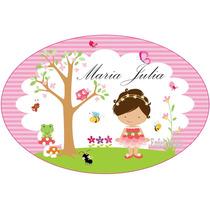 1 Placa Personalizada Jardim Encantado Provençal 40x27cm