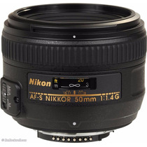 Lente Nikon 50mm F/1.4g Af-s Autofoco Parasol Garantia 1 Ano