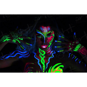 Maquillaje Corporal Fluo Fluorescente Fluor Neon 12 Unidades