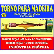Torno Artesanato Para Madeira 1 Metro