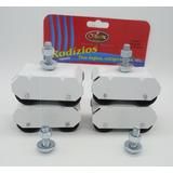 Kit Com 4 Pes Com Rodinhas Branco Fogao Geladeira Moveis