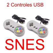 2 Controle Super Nintendo Snes Usb P/ Pc Jogos Raspberry Mac