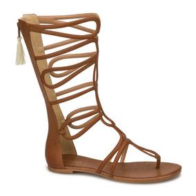 5d1007682cc8f Huaraches Tipo Gladiador - Zapatos de Mujer Naranja oscuro en ...