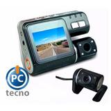 Camara Doble Dash Cam Para Vehiculo, , Fullhd, 140°, Pctecno