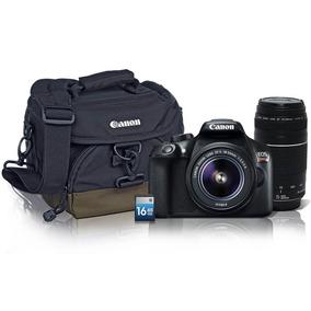 Cámara Reflex Canon Eos Rebel T6 Lente 18-55 + Lente 75-300