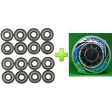 8 Roda Rodinhas Patins Roller 72mm + 16 Rolamento Abec7