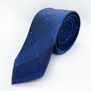 Corbata Azul Slim Tie Delgada De Moda Para Hombre 6 Cm