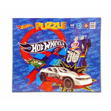 Rompecabezas Hot Wheels Puzzle De Carton 48 Piezas Ruibal