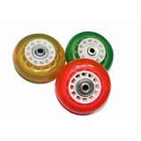 8 Rodas 70mm Para Patins Gel Inline + Brinde