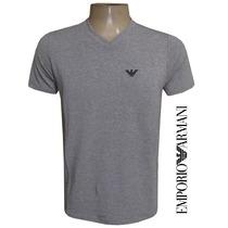 Camiseta Emporio Armani (gola V | Elastano) + Frete