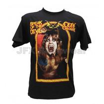 Camiseta Masculina Rock Banda Ozzy Speak Of The Devil