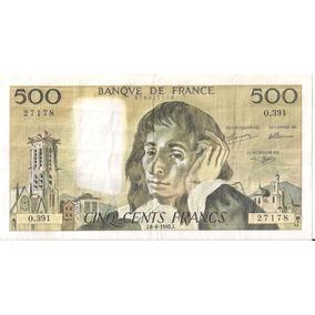 Billete Francés De 500 Francos 1992 (sn)