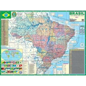 Mapa Brasil Político Escolar Telado - Glomapas