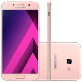 Smartphone Samsung Galaxy A7 2017 Rosa Dual Chip 64gb Tela
