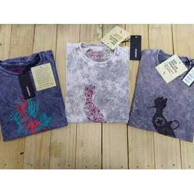 Kit C/5 Camisas Blusas Lavadas Varias Marcas Preço Baixo