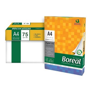 Resma A4 Boreal 75gr Papel Blanco Pack X 10