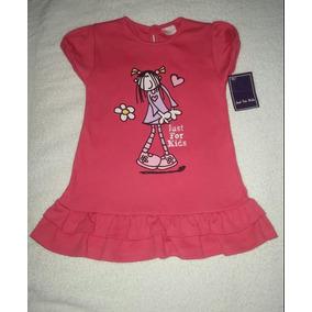 Franela Larga Tipo Vestido Para Niña Talla 2