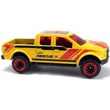 Pickup Ford F-150 Amarela Hot Wheels De Resgate Dupla Cabine
