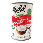 Leche De Coco Orgánica Importada Natural Field Day 400ml