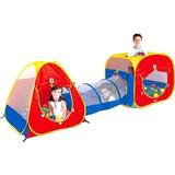 Barraca Toca Infantil Cabana Tunel 3 Em 1 Com 150 Bolinhas