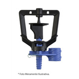 Micro Aspersor Rondo Ultra 30l/h Bocal Celeste Rotor Preto -