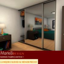 Frente De Placard Espejado 2,40x2,00 2 Ptas Martelli Design